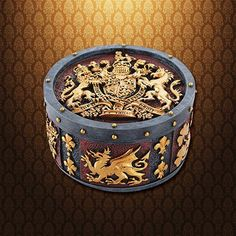 This resin Coat of Arms Trinket Box is hand painted and sports the coat of arms of England on the top, while the sides are decorated with the various pieces of the heraldry.