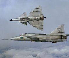 saab planes swedish air force 37 viggen HD Wallpaper