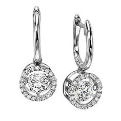Diamond halo earrings in white gold total weight. Available in white, yellow or rose gold. White Gold Diamond Earrings, Halo Diamond, White Gold Diamonds, Diamond Jewelry, Round Diamonds, Diamond Pendant, Circle Earrings, Round Earrings, Pendant Earrings