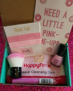 #pinkoctober .... My #beautybox5 finally came.... I unfortunately made this my last beautybox5.... I find it very hit and miss.... It's #cute and i love #pink but i dont find the quality up to par for the #monthly price next to other #subscriptionbox -es in the same price bracket..... The #value just isnt there.... #pinknailpolish #nailpolish by #nubar in #pinktober #pinkhairties  #shopknotty #hairties (wont work with my lack of hair) pink #longlasting #lipbalm #stylistyle pink…