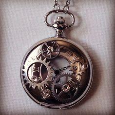 OOO MMM GGGG!!!  LOVE IT!! - Chrome Steampunk Pocket Watch