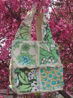 Rag Tote Bag Tutorial--The 4 Patch Bag