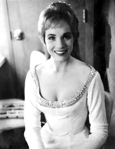 Julie Andrews backstage, in Costume as Guinevere, for the original Broadway production of Lerner & Lowe's Camelot, 1962.