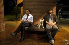 Still of Robert Downey Jr. and Zach Galifianakis in Due Date (2010)