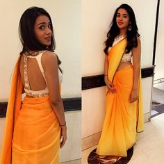 Client Chronicles - Thank you Snehal, our dear client from Delhi for sharing your farewell photos with us. Doesn't she look simply chic and elegant in Rianta's customized saree and embellished blouse.