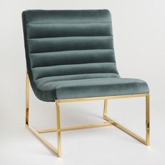 Seafoam Green Tufted Garnett Chair - v1