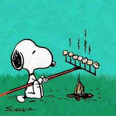 You have the right idea Snoopy! Ready to roast some marshmallows!