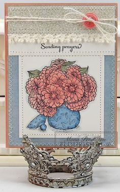 I made this card using pretty patterned paper from the Pink Paislee Indigo Bleu collection.  Thanks for looking :)