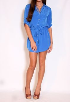 Shirt Dress with Tie More Colors Available #privategallery #PGWishlist