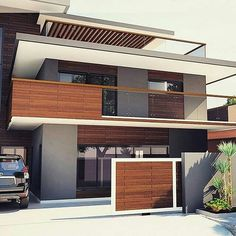 New house arquitecture small architects ideas Modern Exterior House Designs, Modern House Facades, Modern Architecture House, Residential Architecture, Modern House Design, Exterior Design, Architecture Design, Architecture Student, Architecture Portfolio
