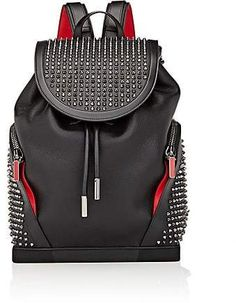 Handbags and Leather Goods > Christian Louboutin Black Backpack, Leather Backpack, Mens Designer Backpacks, Black Christian Louboutin, Men's Backpacks, Barneys New York, Leather Handle, Mens Fashion, Fashion Edgy