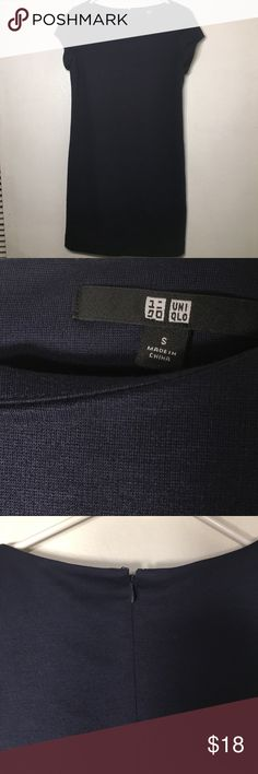 UNICLO solid navy shirt dress size SM Dress up or down. GUC! Uniqlo Dresses Mini