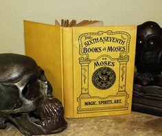 Antique book of Demons & Magick  - Original 1900s Magical Grimoire - Conjure Spirits and Demonic Forces. $238.00, via Etsy.