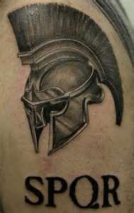 Roman Soldier Helmet Tattoo