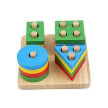 Brinquedos Educacionais do bebê De Madeira Placa De Classificação Geométrica Montessori Crianças Enigma Presente da Criança de Construção de Brinquedos Educativos MU881855(China (Mainland))