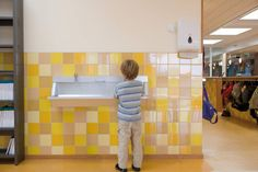 Wall Tiles - Colors from Mosa Study Inspiration, Bathroom Inspiration, Interior Inspiration, Tile Patterns, Color Patterns, Kindergarten, Ceramic Wall Tiles, Color Tile, School Design