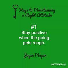 5 keys to maintaining a right attitude