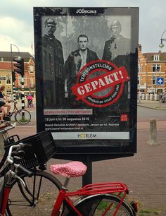 Posters tbv de tentoonstelling 'Gepakt!' in het noord-hollands archief in Haarlem