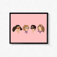 Grease, Pink Ladies • Movie Print