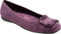 purple flats - leather, $98.95