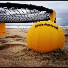 Spikeball on the beach Looks like fun! Gotta get one for this summer.