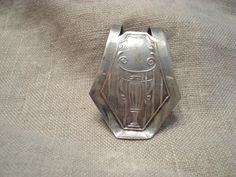 Art Deco Money Clip Silver Plated Circa 1920s by renew2u on Etsy, $24.00