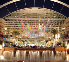 Dubai Festival City | Dubai, United Arab Emirates | A pedestrian waterfront retail and entertainment district is located along the Corniche, overlooking a marina with yacht-side moorings. Along an inner canal, arts, culture and entertainment blend with traditional retail shops.
