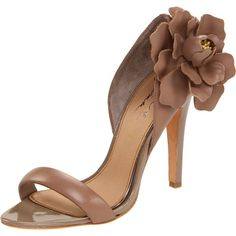Mark + James Women's Marigold High Heel Flower Sandal ❤ liked on Polyvore