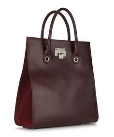 Jimmy Choo Rita Bordeaux leather grab bag, Designer Bags Sale, Outlet at SECRETSALES.com