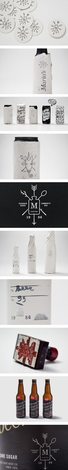 Maria's by Michael Freimuth #branding #packaging PD