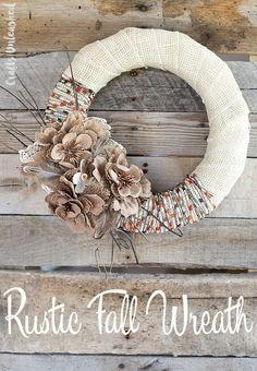 I know your greatest struggle - DIY Fall Crafts are hard to recreate and results are terrible! These DIY Fall Craft Ideas are so easy you can do them today. Diy Fall Wreath, Fall Diy, Fall Wreaths, Wreath Ideas, Rustic Wreaths, Burlap Wreaths, Burlap Flowers, Faux Flowers, Summer Wreath
