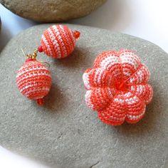 Deser pomarańczowo-śmietankowy w SolmilarArt na DaWanda.com Crochet Earrings, Etsy, Fashion, Moda, Fashion Styles, Fashion Illustrations