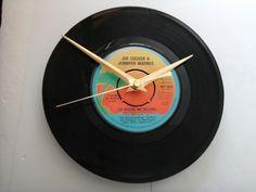 "Joe cocker and jennifer warnes- up where we belong  7""  vinyl record clock  £6.99"