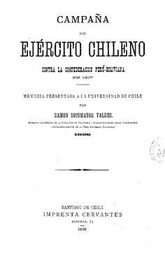 Memoria sobre la campaña del ejército chileno contra la confederción Perú-boliviana en 1837. 1896. Math, History, Books, War Of The Pacific, Bicycle Kick, Historia, Libros, Math Resources, Book