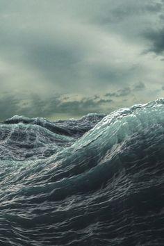 Die rauhe See. Ich liebe es, am Meer zu sein und dem Sturm zuzusehen, wie er mit den Wellen spielt ♡ The rough sea. I love to be by the sea watching the storm play with the waves ♡ No Wave, Sea And Ocean, Ocean Beach, Sky Sea, Stürmische See, Fuerza Natural, Stormy Sea, All Nature, Sea Waves