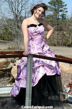 Camo wedding dress from Camoformal.com