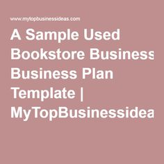 Starting A Tutoring Service Sample Business Plan Template - Bookstore business plan template