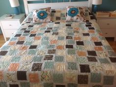 Quilt for our bed made from Basic Grey layer cake