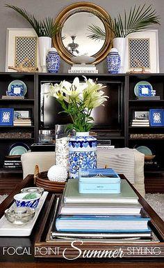 SUMMER BLUES LIVING ROOM REFRESH - Lynda Quintero-Davids - Focal Point Summer Styling by NYCLQ, via Flickr