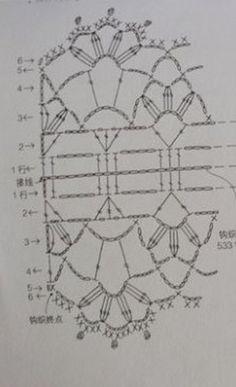 Sciarpa crochet openwork a=