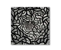 Black and White Art Original Painting on Canvas by StudioKWN, $195.00