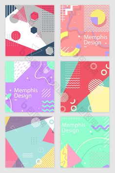 Memphis line geometric pattern vector material Graphic Design Trends, Graphic Design Posters, Graphic Design Inspiration, Memphis Design, Banner Design, Layout Design, Buch Design, Geometric Graphic, Expo