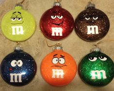 This is the complete 7 Face Set. Grab them now for your Ornaments, Gifts Tshirts and Coffee Mugs! Vinyl Christmas Ornaments, Glitter Ornaments, Christmas Balls, Christmas Crafts, Christmas Decorations, Christmas Projects, Holiday Crafts, Craft Corner, Vinyl Projects