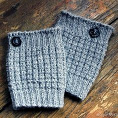 A quick and popular gift item, these easy knit boot cuffs are knit in the round. You'll wonder why you didn't try them long ago!