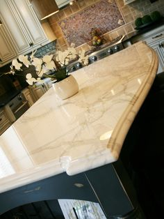 Luce Di Luna quartzite counter- Better than granite and wont stain like marble
