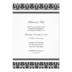 Discount DealsBlack White Damask Wedding Vow Renewal Invitationslowest price for you. In addition you can compare price with another store and read helpful reviews. Buy