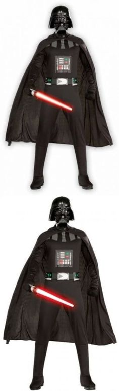 Men Costumes: Star Wars Darth Vader Adult Mens 2Xl Plus Size Halloween Costume Fun Play Party BUY IT NOW ONLY: $39.99