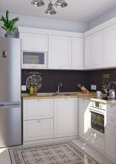 Galley Kitchen Design, Kitchen Room Design, Studio Kitchen, Kitchen Dinning, Interior Design Kitchen, Kitchen Decor, Small Apartment Interior, Small Apartment Kitchen, Kitchen Models