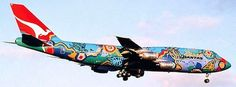Qantas B747-300 Nalanji Dreaming