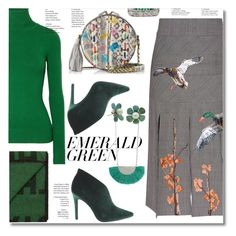 """""""Pops of Green"""" by ilona-828 ❤ liked on Polyvore featuring Zad, Penny Loves Kenny, JoosTricot, Stella Jean, Jérôme Dreyfuss, StreetStyle, emeraldgreen and polyvoreeditorial"""